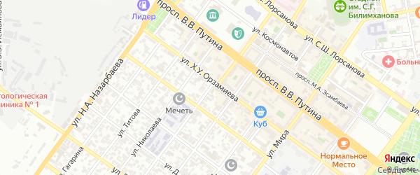 Улица им Г.М.Зармаева на карте Грозного с номерами домов