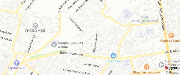 Дачная улица на карте Грозного с номерами домов