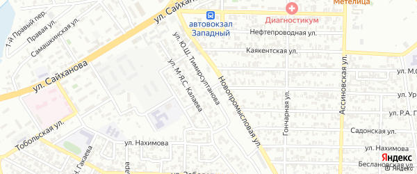 Улица А.Х-Б.Тимирсултанова на карте Грозного с номерами домов