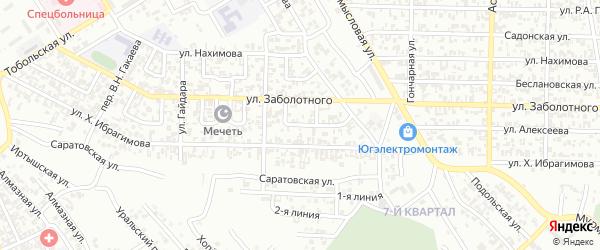 Новопромысловый переулок на карте Грозного с номерами домов
