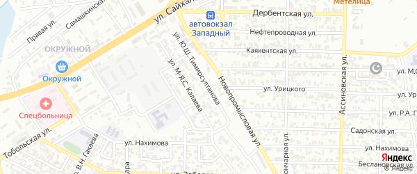 Улица им Ш.Д.Джабраилова на карте Грозного с номерами домов