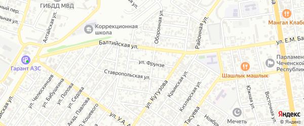 Оборонная улица на карте Грозного с номерами домов