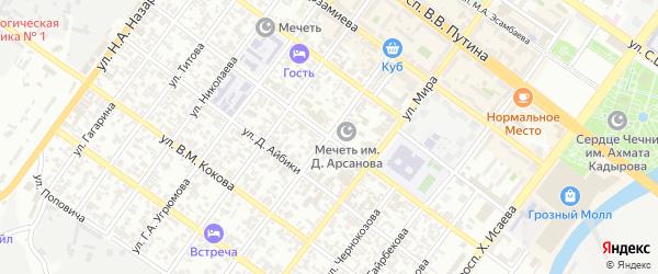 Улица им Карла Маркса на карте Грозного с номерами домов