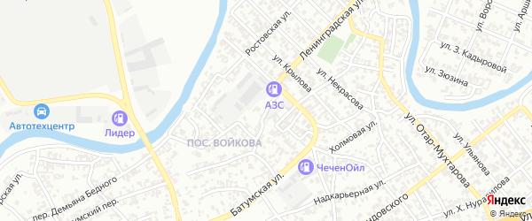 Улица им Демьяна-Бедного на карте Грозного с номерами домов