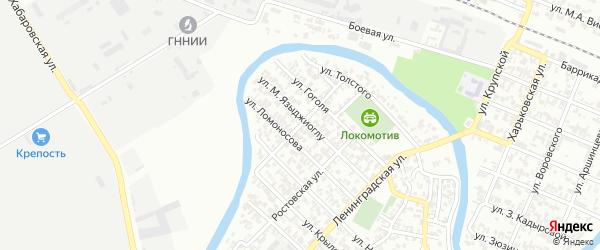 Таганрогская улица на карте Грозного с номерами домов
