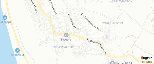 Белорусский 1-й переулок на карте Грозного с номерами домов