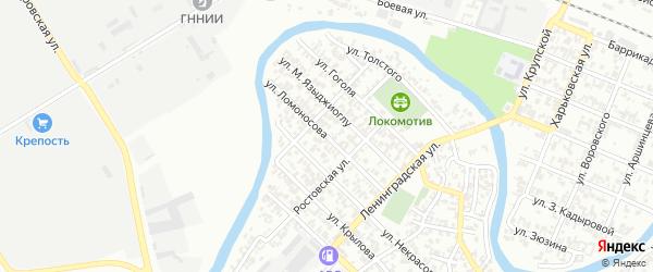 Улица Ломоносова на карте Грозного с номерами домов
