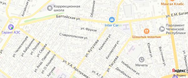 Ставропольская улица на карте Грозного с номерами домов