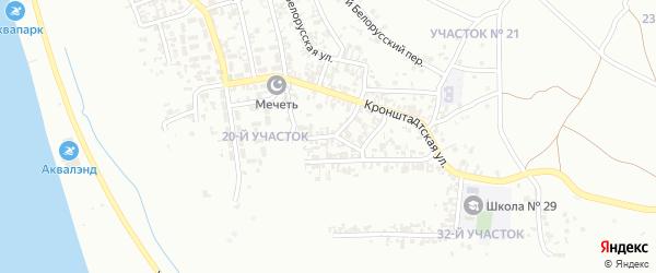 Белорусский 2-й переулок на карте Грозного с номерами домов