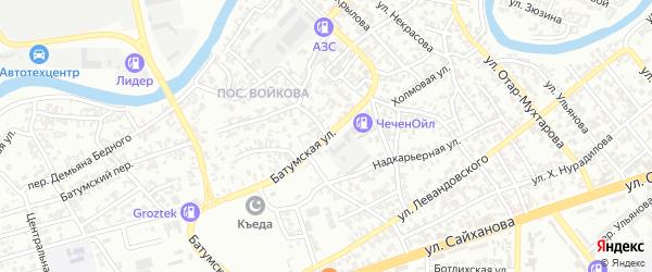 Батумская улица на карте Грозного с номерами домов