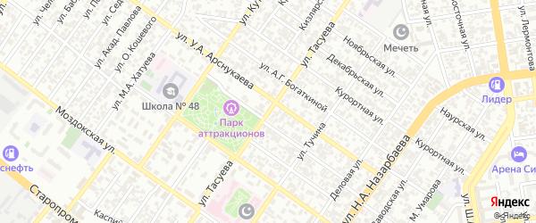 Улица И.М.Тасуева на карте Грозного с номерами домов