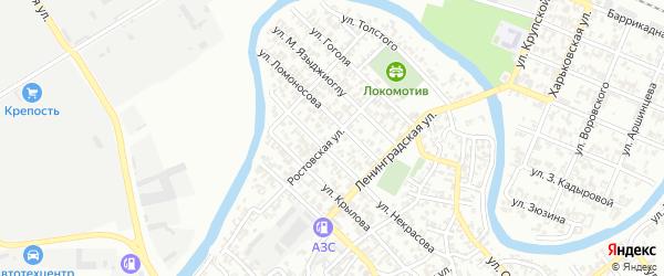 Ростовская улица на карте Грозного с номерами домов