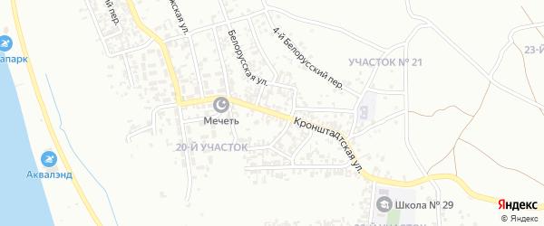 Кронштадская улица на карте Грозного с номерами домов