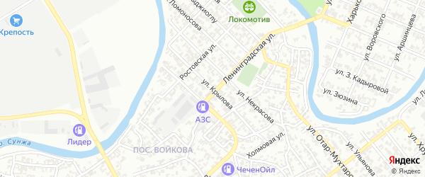 Улица им Крылова на карте Грозного с номерами домов