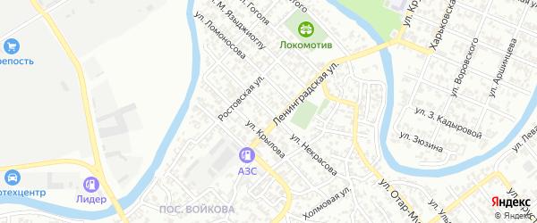 Улица Некрасова на карте Грозного с номерами домов
