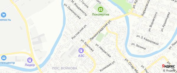 Переулок им Некрасова на карте Грозного с номерами домов