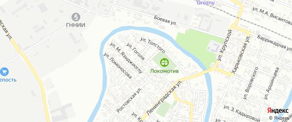 Улица им Гоголя на карте Грозного с номерами домов