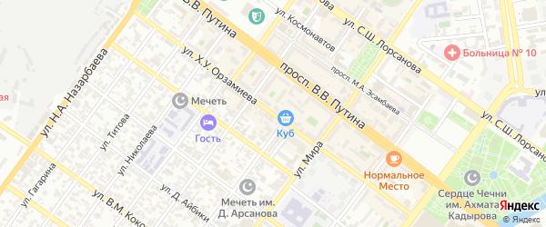 Улица им Розы Люксембург на карте Грозного с номерами домов