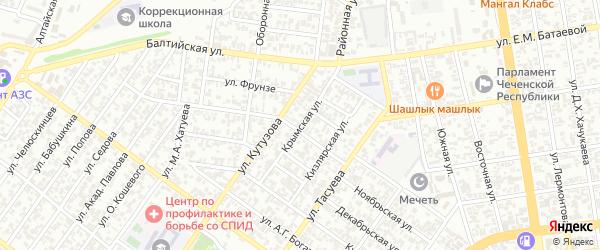 Крымская улица на карте Грозного с номерами домов