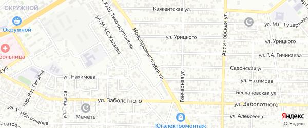 Новопромысловая улица на карте Грозного с номерами домов