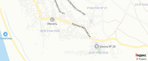 Белорусский 3-й переулок на карте Грозного с номерами домов