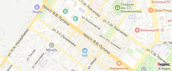 Проспект им В.В.Путина на карте Грозного с номерами домов