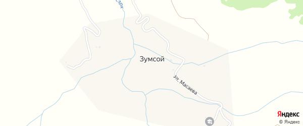Улица Ашаханова на карте села Зумсой с номерами домов