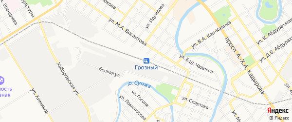 СТ Кировский на карте Грозного с номерами домов