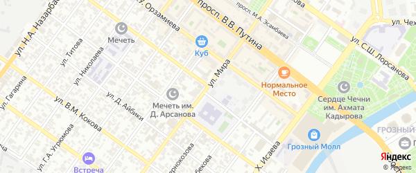 Улица Мира на карте Грозного с номерами домов