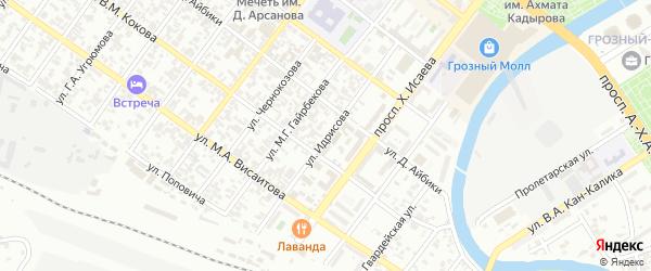 Улица Идрисова на карте Грозного с номерами домов
