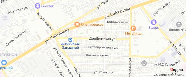 Дербентская улица на карте Грозного с номерами домов