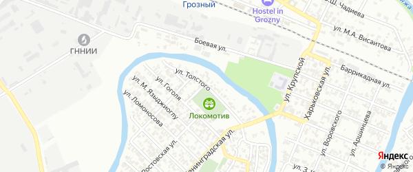 Улица Толстого на карте Грозного с номерами домов