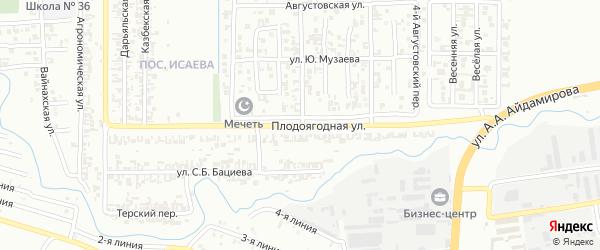Плодоягодная улица на карте Грозного с номерами домов