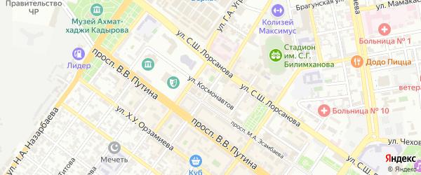Улица им Грибоедова на карте Грозного с номерами домов