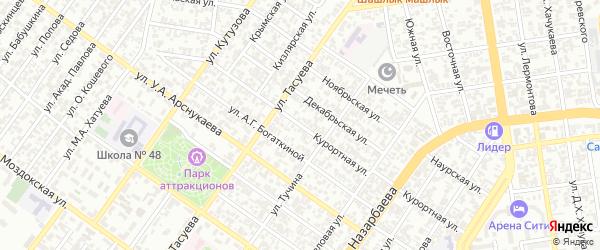 Курортная улица на карте Грозного с номерами домов