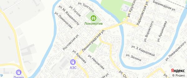 Ленинградская улица на карте Грозного с номерами домов