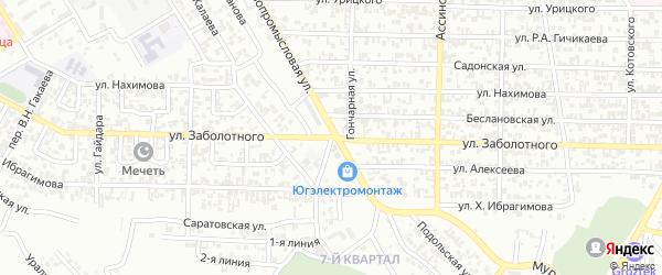 Улица Заболотного на карте Грозного с номерами домов
