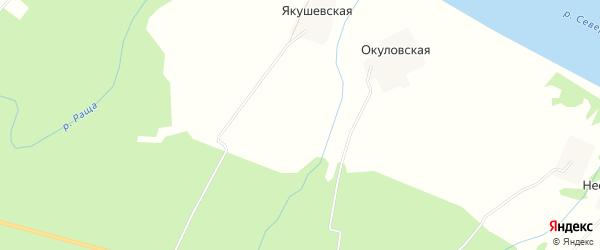 Карта Ситковской деревни в Архангельской области с улицами и номерами домов