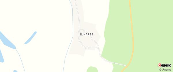Карта деревни Шилявы в Архангельской области с улицами и номерами домов