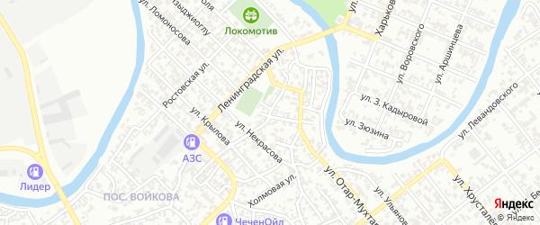 Якутская улица на карте Грозного с номерами домов