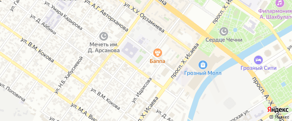 Улица Чернышевского на карте Грозного с номерами домов