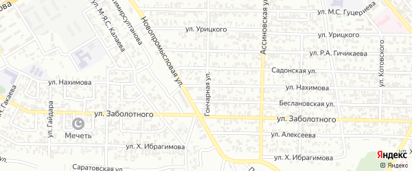 Улица Нахимова на карте Грозного с номерами домов