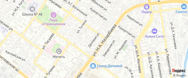 Деловая улица на карте Грозного с номерами домов