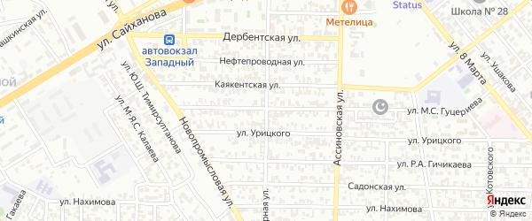 Гончарная улица на карте Грозного с номерами домов