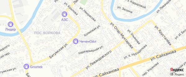 Переулок Левандовского на карте Грозного с номерами домов