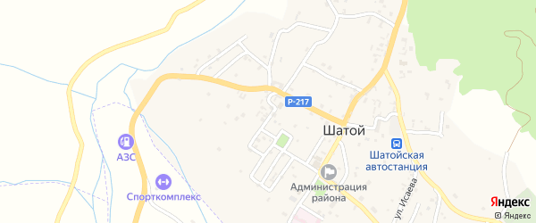 Улица Харгичу на карте села Шатоя с номерами домов