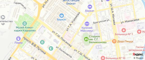 Улица им Хамитовой Марины М на карте Грозного с номерами домов