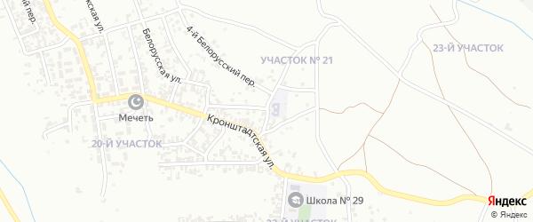 Кронштадский 1-й переулок на карте Грозного с номерами домов