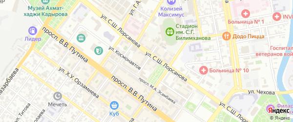 Улица Репина на карте Грозного с номерами домов