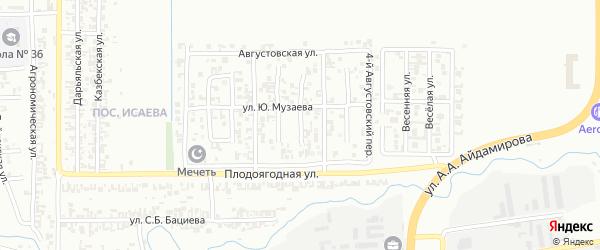 Сиреневый переулок на карте Грозного с номерами домов